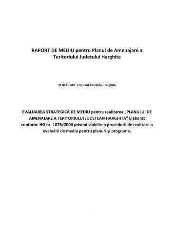 RAPORT DE MEDIU pentru Planul de Amenajare a Teritoriului ...