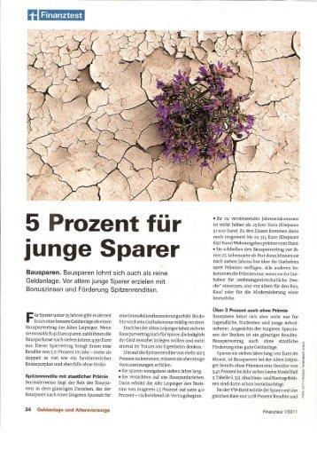 Finanztest BauSparKassen - Matthias Trommer
