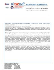 AUTOMATED DEFECT DETECTION IN ALUMINIUM CASTINGS ...