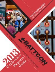Conference Program Guide (2013) - Battcon International Battery ...