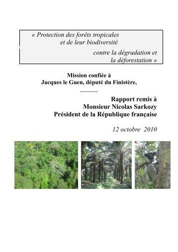Protection des forêts tropicales et de leur ... - Oeconomia.net