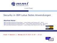 T4S1 - Security in IBM Lotus Notes Anwendungen ... - EntwicklerCamp