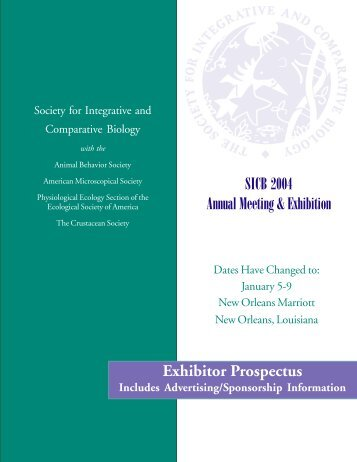 Exhibitor Prospectus (.pdf format) - Society for Integrative and ...