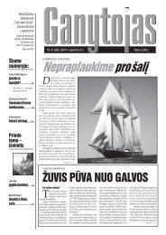 Nr. 21 (262) 2007 m. lapkričio 3 d. - Krikščionių bendrija TIKĖJIMO ...