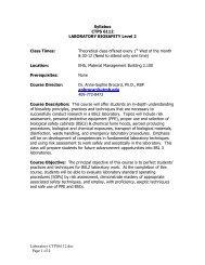 BioSafety Level 2