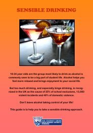drinking sensibly - Queen Margaret University Students