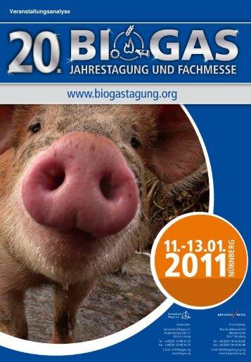 Veranstaltungsanalyse - BIOGAS Jahrestagung und Fachmesse