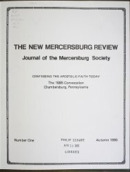 THE NEW MERCERSBURG REVIEW - DSpace