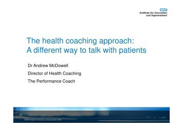 The health coaching approach: A different way to talk with patients