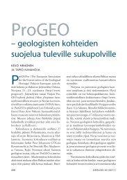 ProGEO - geologisten kohteiden suojelua tuleville sukupolville