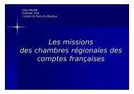 Les missions des chambres régionales des comptes ... - Eurorai.org
