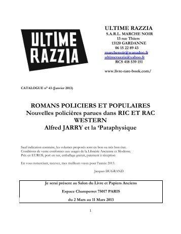 ROMANS POLICIERS ET POPULAIRES ... - Livre Rare Book