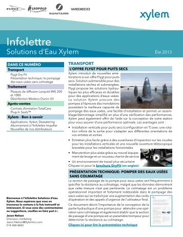 Infolettre - Water Solutions