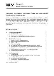 und Erwachsenenschutzrecht - Kanton Aargau