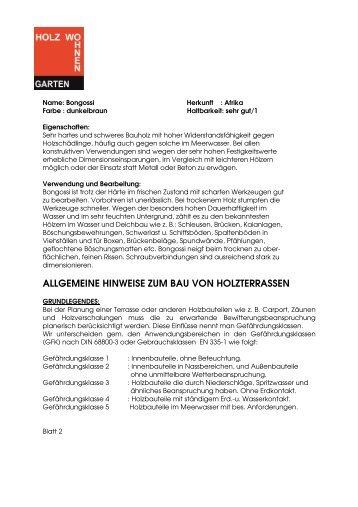 Bongossi Holzartenbeschreibung.pdf - Holz Wohnen Garten