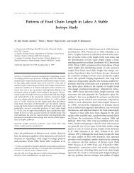 Patterns of Food Chain Length in Lakes: A Stable Isotope Study