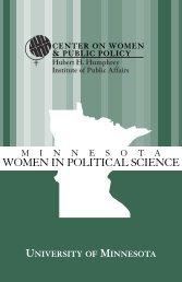 women in political science - Humphrey School of Public Affairs ...