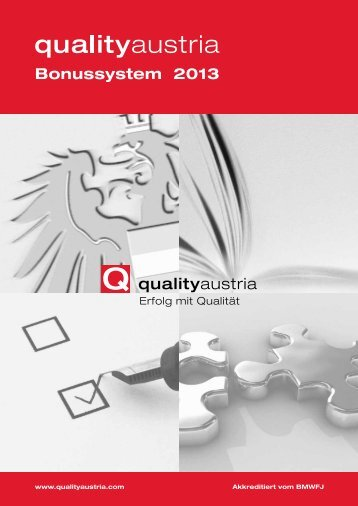 Bonussystem 2013 - Quality Austria