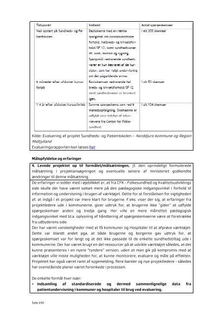 Programevaluering - CFK Folkesundhed og Kvalitetsudvikling