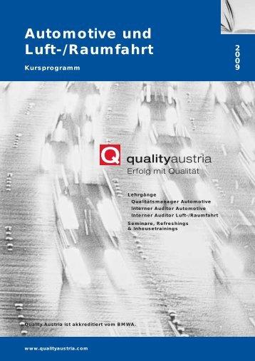Automotive und Luft-/Raumfahrt - Quality Austria