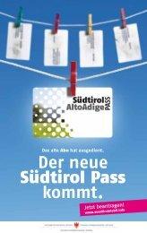 Der neue Südtirol Pass kommt.