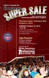 2011 Congress Super Sale Catalog - djj pedigrees