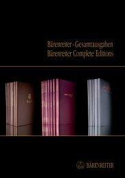 Bärenreiter - Gesamtausgaben Bärenreiter Complete editions