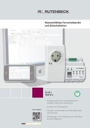 Netzwerkfähige Fernschaltgeräte und Zeitschaltuhren - Rutenbeck