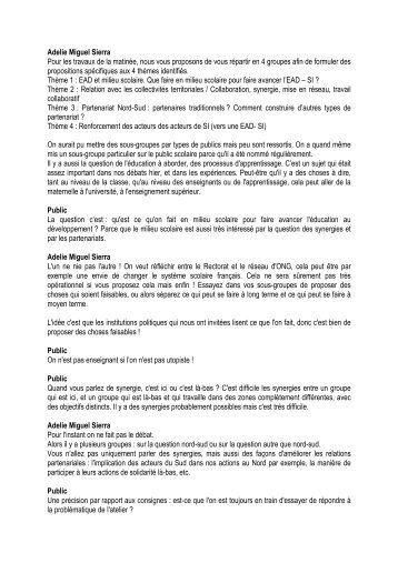 Atelier du parcours n°2 - Acteurs Bretons de la Coopération ...