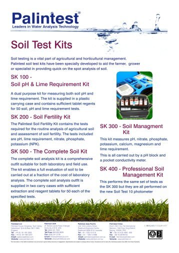 Lrp kits flyer d terra tools for Soil quality pdf