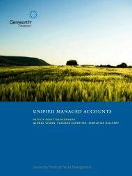 Unified Managed Accounts Brochure (PDF) - Genworth Financial ...