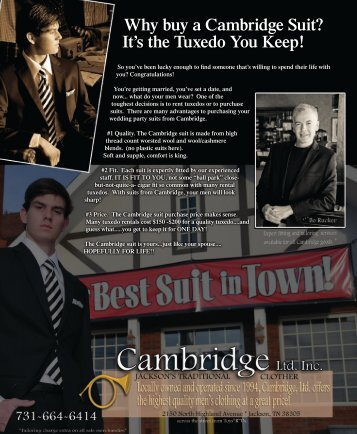 Why buy a Cambridge Suit? - Tennessee Women's Journal