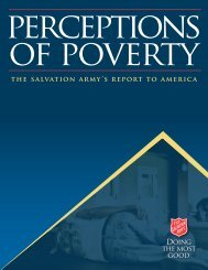 Perceptions of Poverty - The Salvation Army
