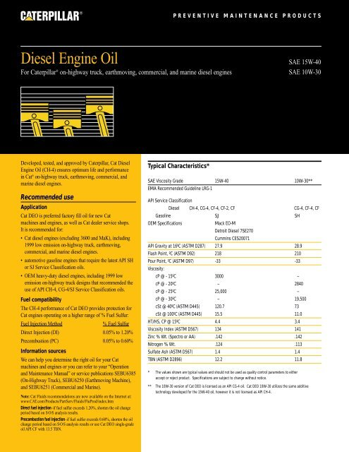 TitleTitle Diesel Engine Oil - Toromont CAT