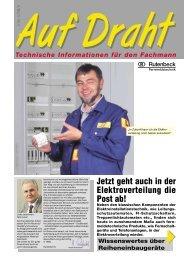 Jetzt geht auch in der Elektroverteilung die Post ab! - Rutenbeck