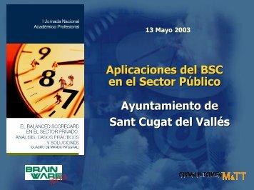Aplicaciones del BSC en el Sector Público Ayuntamiento de Sant ...