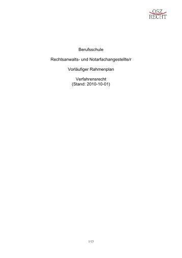 Stand: 2010-10-01 - OSZ Recht