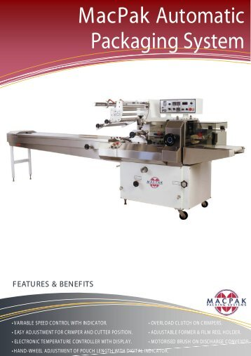 Automatic Packaging Machine front - Macadams