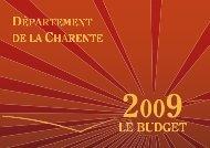 Répartition du budget 2009 - Charente