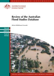 Review of the Australian Flood Studies Database - Geoscience ...