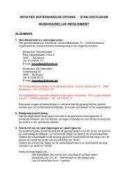 Huishoudelijk reglement BKO - Stad Zoutleeuw