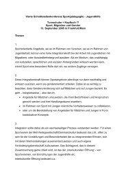 Thesen - Schnittstellenkonferenzen Sport- und Jugendhilfe