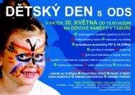 Táborská ODS zve na Dětský den 30. května 2008