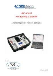 Advanced Calibration Manual - Novatech Controls