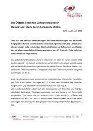 Die Österreichischen Länderversicherer Gemeinsam stark durch ...