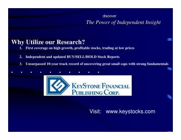 Why Utilize our Research? - Small-Cap Conference Series