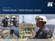 Tullow Oil plc – 2010 full year results