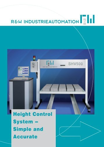 Height Control System - bei R&W Industrieautomation!