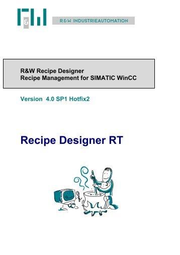Recipe Designer RT - bei R&W Industrieautomation!
