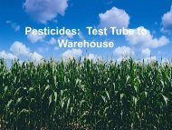 Pesticides: Test Tube to Warehouse